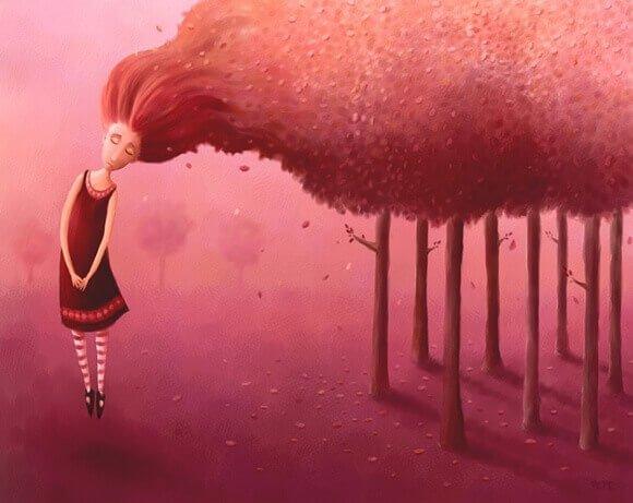 Mujer-triste-con-el-pelo-largo